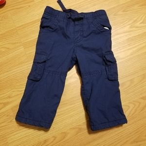 Old navy boys blue winter pants size 6/12 mo